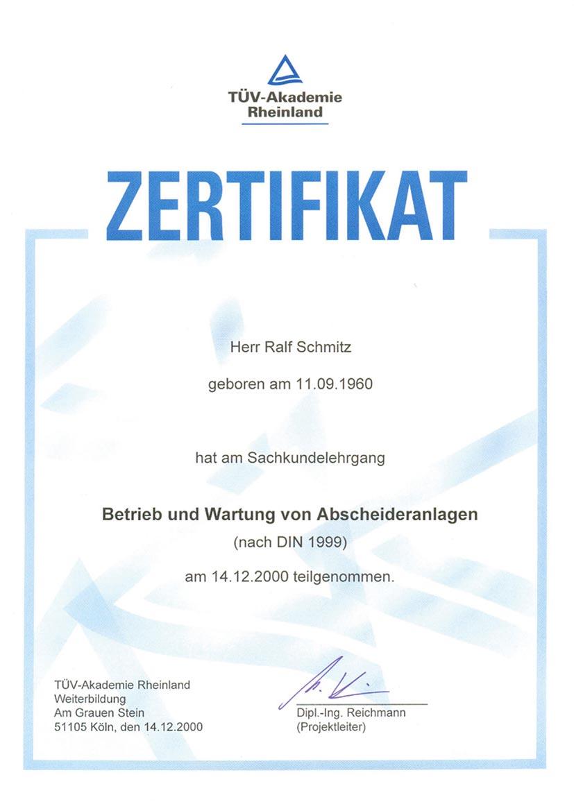 Zertifikat 9