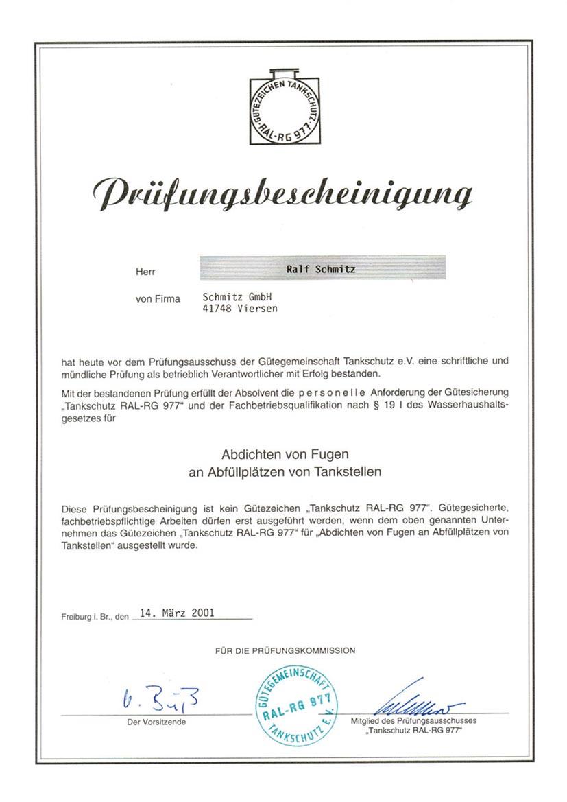 Zertifikat 3