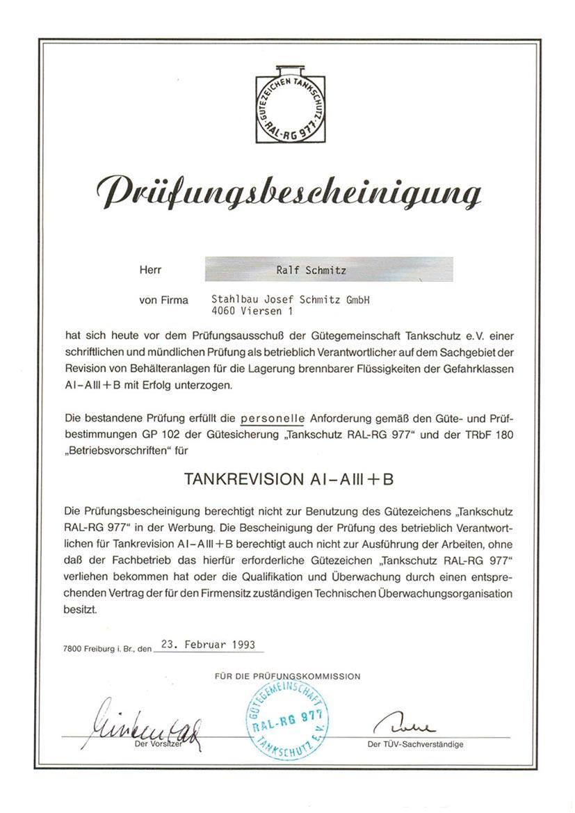 Zertifikat 5